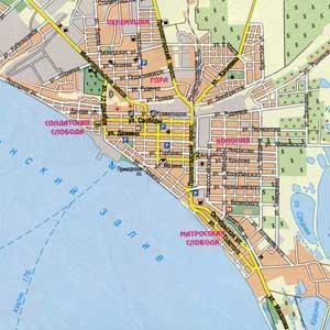 Схема города бердянска